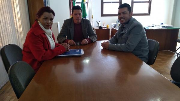 Secretário Adjunto de Esportes do Estado visitou Nova Palma