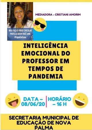 Psicóloga conversa com professores em palestra sobre inteligência emocional na próxima segunda-feira