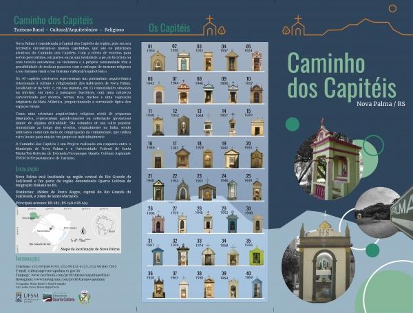 Material (banner e folder) do projeto Caminho dos Capitéis no formato digital